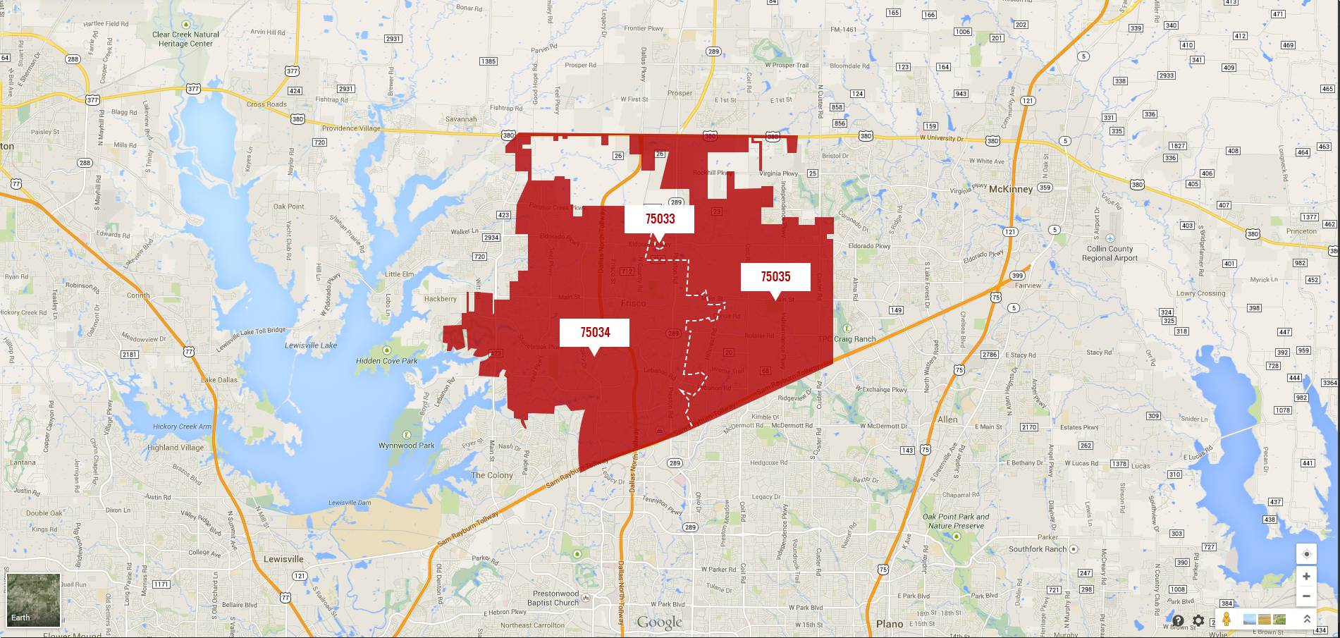 Frisco Zip Code Map 75033 | Zip Code MAP